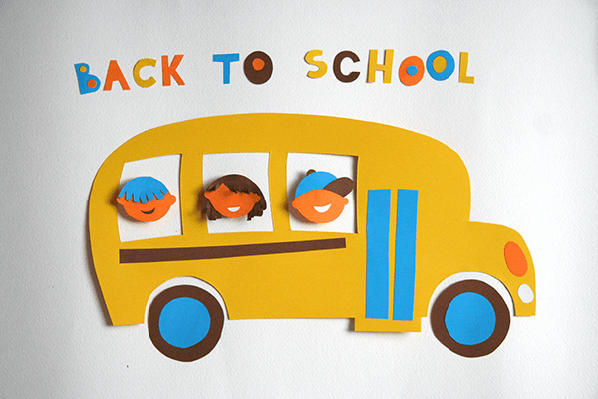 Back to School: Yellow Bus With Kids | Clipart