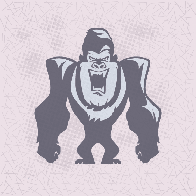 Angry Chimp Mascot | Clipart