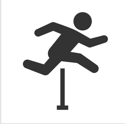 Athletics and Gymnastics Icon Set - Hurdling | Clipart