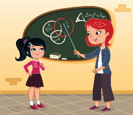 Teacher and Student | Clipart