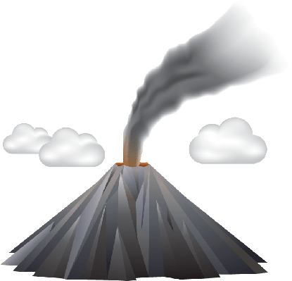 Volcano Eruption | Clipart