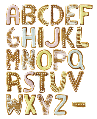 A-Z of Biscuits | Clipart