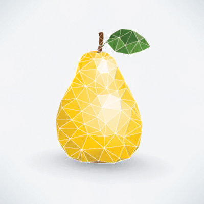 Abstract, Isolated: Pear Fruit | Clipart