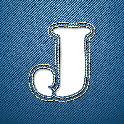 Denim Jeans: Letter J   Clipart
