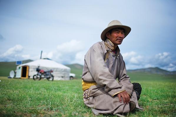 A Herder Takes a Break | Global Oneness Project
