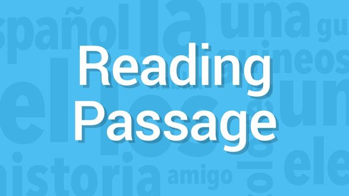 What's the Topic? / ¿Cuál es el tema? | Reading Passage | Supplemental Spanish Grades 3-5