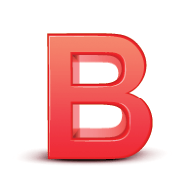 3D Red Letter: B | Clipart
