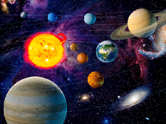 Orbiting Planets in Solar System | Clipart