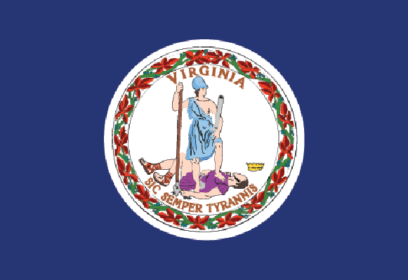 Commonwealth of Virginia Flag | Clipart