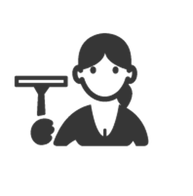 Professions - Black & White - Cleaner | Clipart
