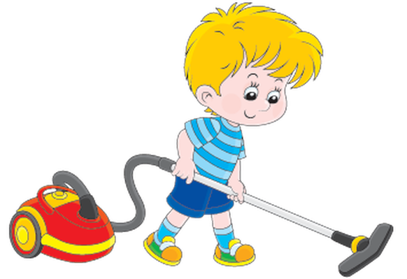 Boy with A Vacuum Cleaner | Clipart