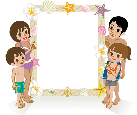 Swimwear Family and Message Board (#2) | Clipart