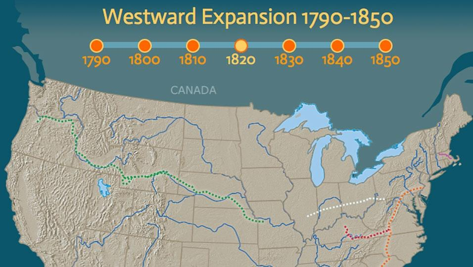 Us Westward Expansion Map Westward Expansion, 1790–1850 | PBS LearningMedia