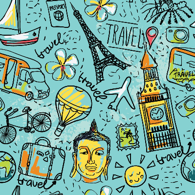 Seamless Pattern About Summer Travel | Clipart