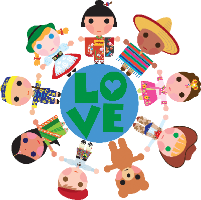Children of the World on a Love Globe | Clipart