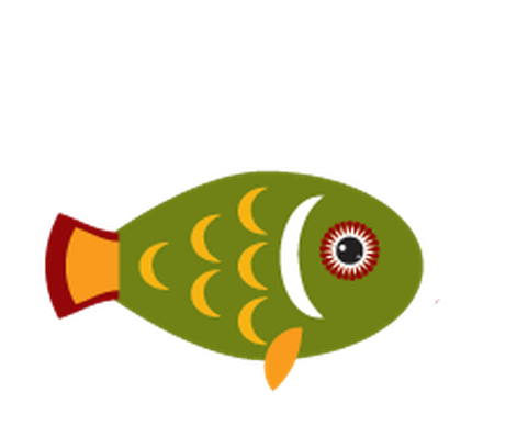Animals of Australia - Green Fish | Clipart