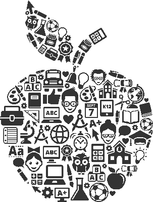Education and Back to School in Apple Form | Clipart