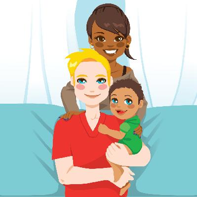 Happy interracial Family | Clipart
