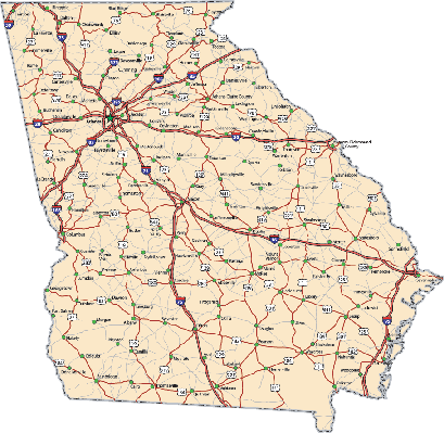 Georgia Highway map | Clipart