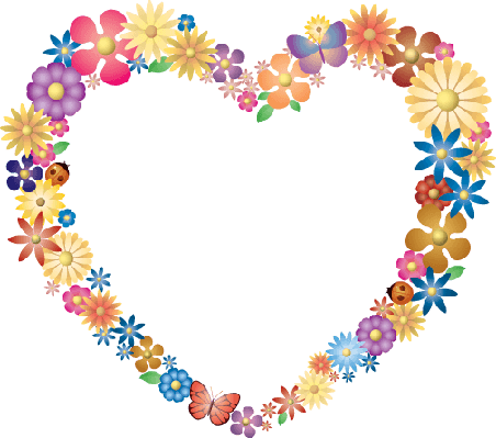 Spring Flowers - Flower Heart | Clipart