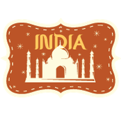 Travel Labels or Badges - India | Clipart