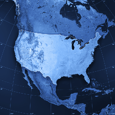 USA Topographic Map | Clipart