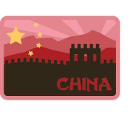 Travel Labels or Badges - China | Clipart
