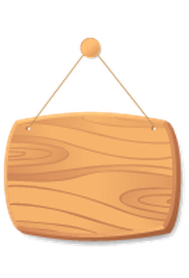 Wooden Boards on A Cord - 5 | Clipart