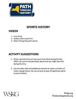Sports History Activities