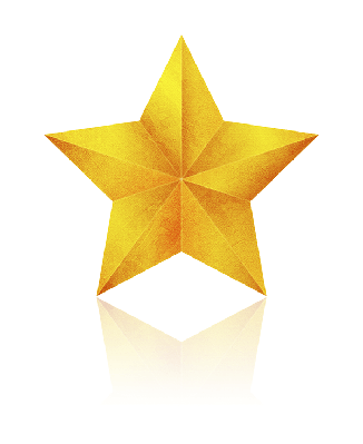 Golden Star (Clipping Path!) | Clipart