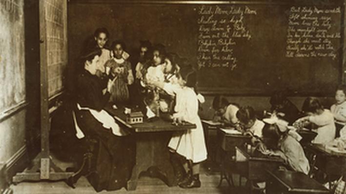 Steamer Glass in Hancock School Boston Massachusetts