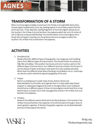 Transformation of a Storm | Activities