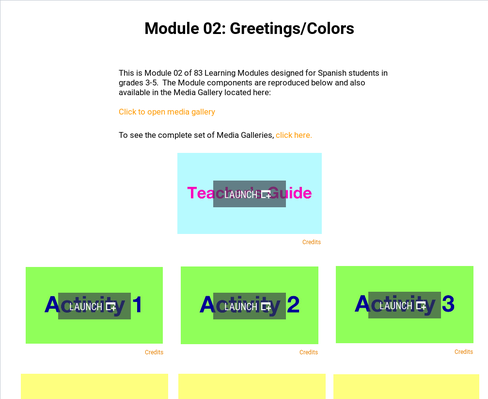 Greetings: Colors | Supplemental Spanish Module 02