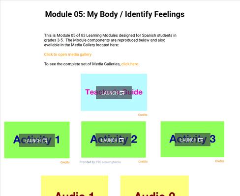 My Body: Identify Feelings | Supplemental Spanish Module 05