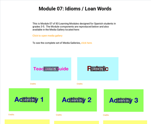 Idioms: Loan Words | Supplemental Spanish Module 07