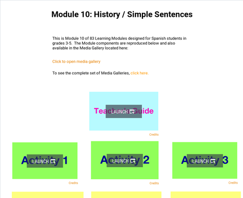History: Simple Sentences | Supplemental Spanish Module 10