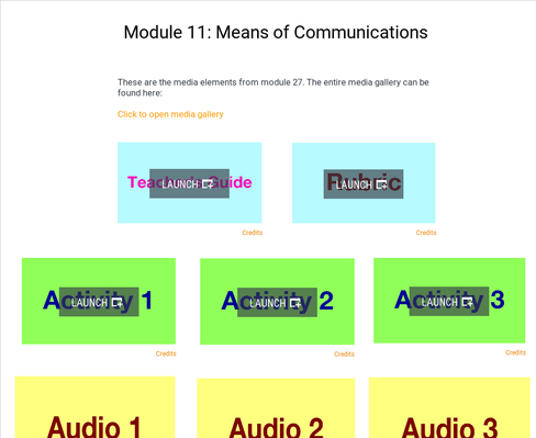Means of Communications | Supplemental Spanish Module 11