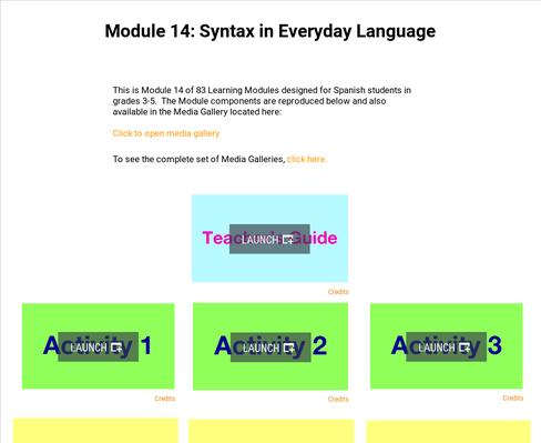 Syntax in Everyday Language | Supplemental Spanish Module 14