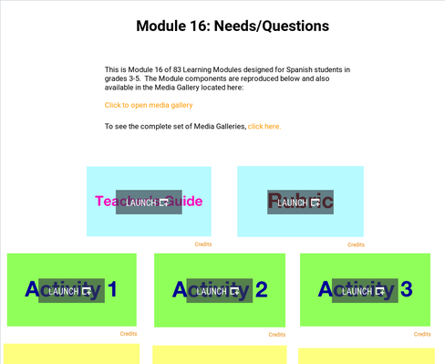 Needs: Questions | Supplemental Spanish Module 16