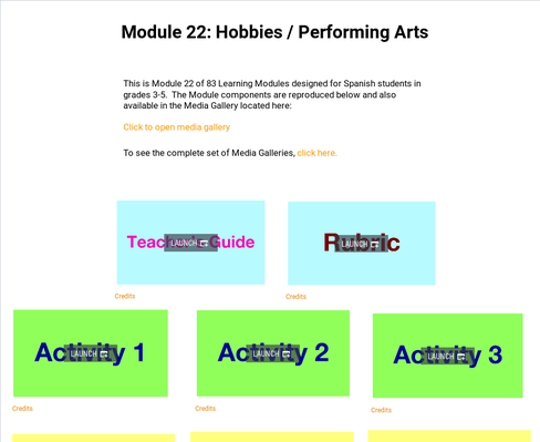 Hobbies: Performing Arts | Supplemental Spanish Module 22
