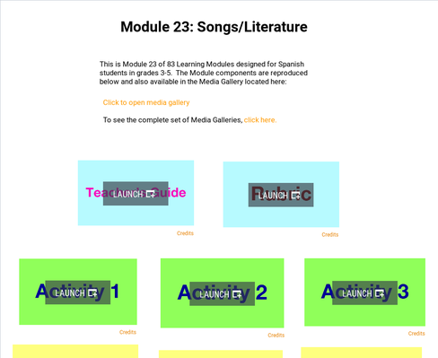 Songs: Literature | Supplemental Spanish Module 23