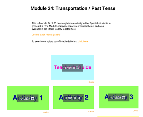 Transportation: Past Tense | Supplemental Spanish Module 24