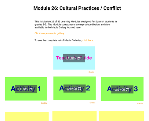 Cultural Practices: Conflict | Supplemental Spanish Module 26