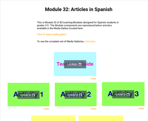 Articles in Spanish | Supplemental Spanish Module 32