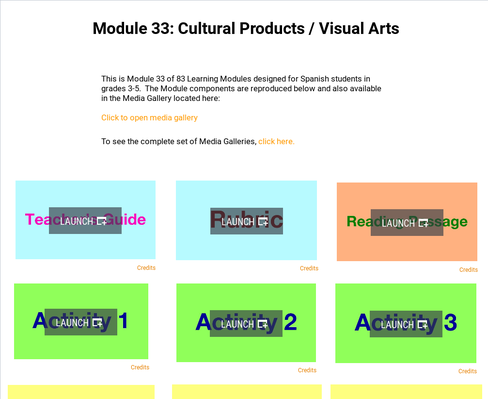 Cultural Products: Visual Arts | Supplemental Spanish Module 33