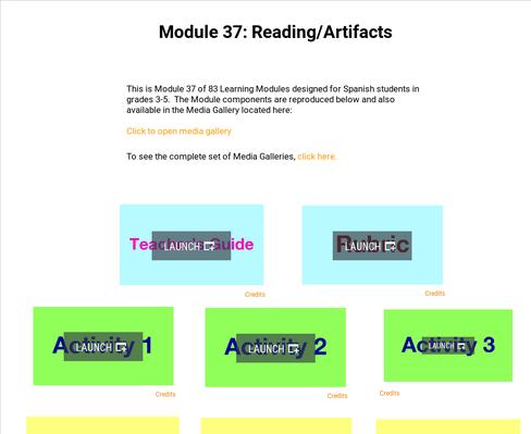 Reading: Artifacts | Supplemental Spanish Module 37