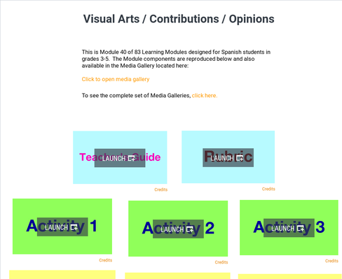Visual Arts: Contributions and Opinions | Supplemental Spanish Module 40