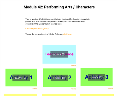 Performing Arts: Characters | Supplemental Spanish Module 42