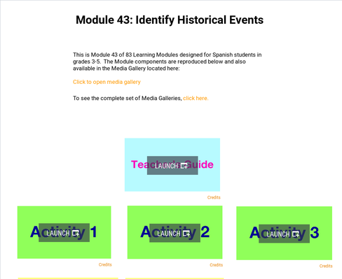 Identify Historical Events | Supplemental Spanish Module 43
