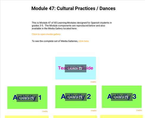 Cultural Practices: Dances | Supplemental Spanish Module 47